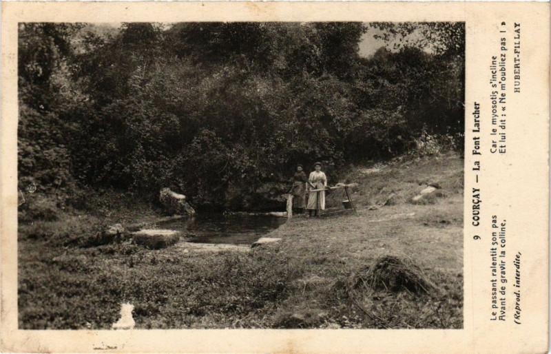 Carte postale ancienne Courcay - La Font Larcher à Courçay