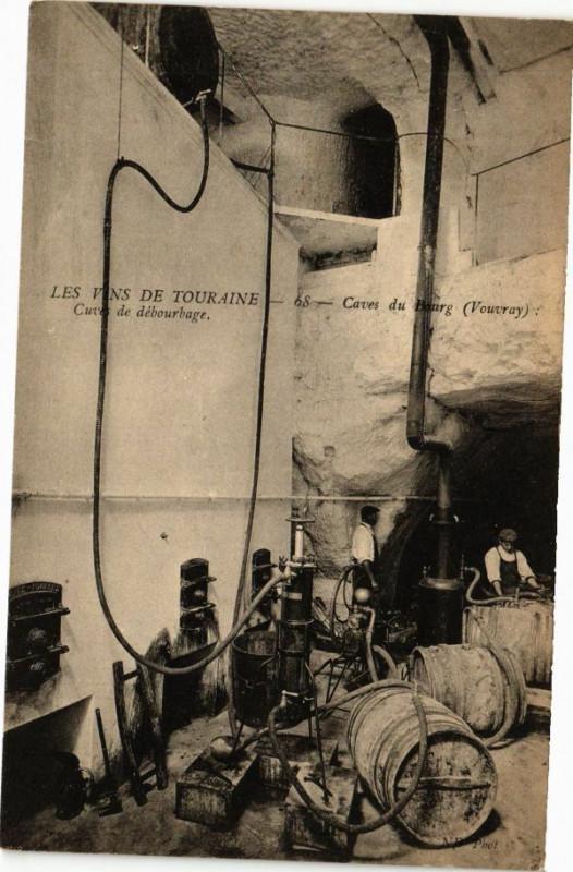 Carte postale ancienne Caves de Bourg - Cuves de débourbage