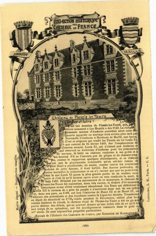 Carte postale ancienne Chateau de Plessis les Tours - à Tours
