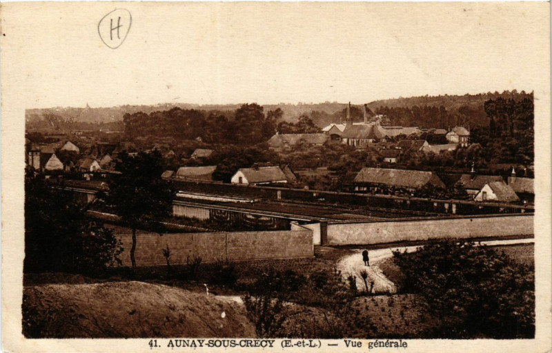 Carte postale ancienne Aunay-sous-Crecy - Aunay-sous-Crécy - Vue générale à Aunay-sous-Crécy
