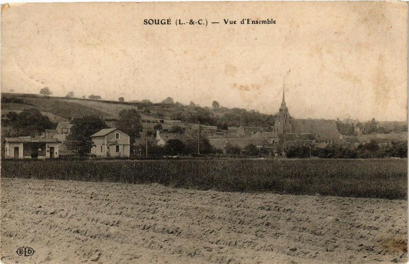 Carte postale ancienne Souge (L.-&-C.) - Vue d'Ensemble à Sougé