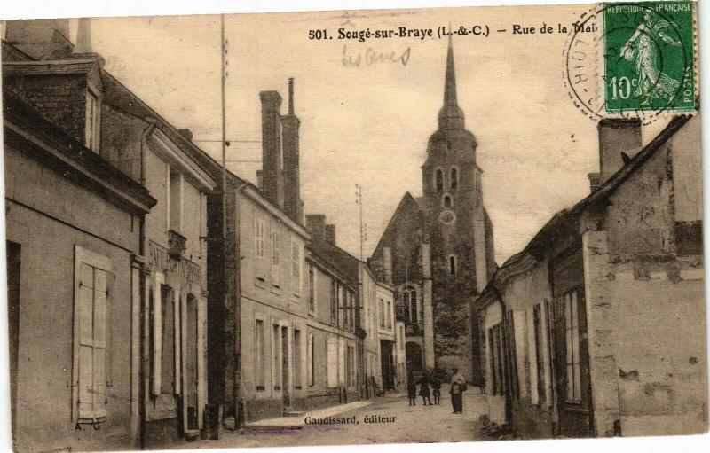 Carte postale ancienne Souge-su-Braye (L.-&-C.) - Rue de la Mail à Sougé