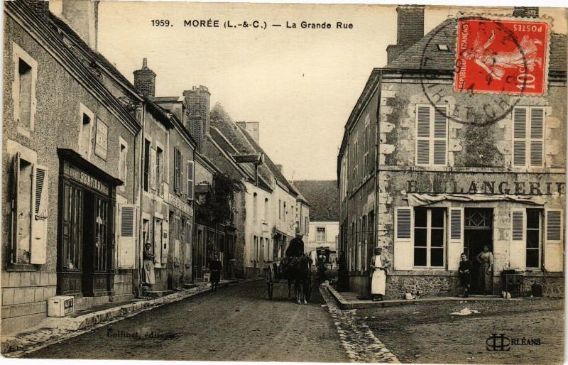 Carte postale ancienne Moree (L.-&-C.) - La Grande Rue à Morée