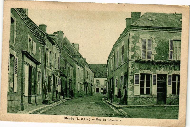 Carte postale ancienne Moree (L.-et-Ch.) - Rue du Commerce à Morée