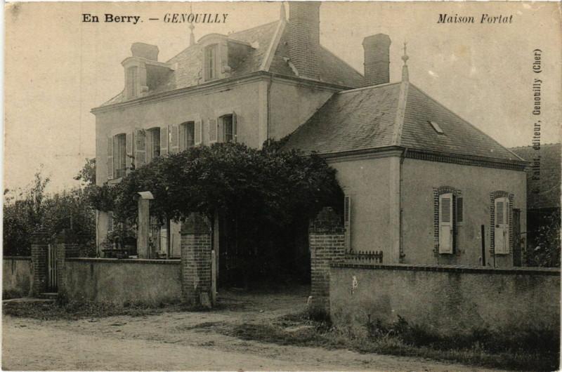 Carte postale ancienne Genouilly - Maison Fortat à Genouilly