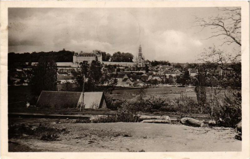 Carte postale ancienne Chateauneuf-sur-Cher Vue générale à Châteauneuf-sur-Cher
