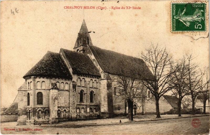 Carte postale ancienne ChalIVOY-Milon - Eglise du XIe siecle à Chalivoy-Milon