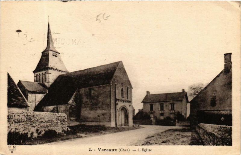 Carte postale ancienne Vereaux Eglise à Vereaux