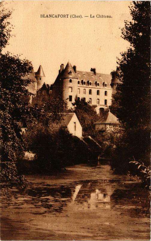 Carte postale ancienne Blancafort Le Chateau à Blancafort