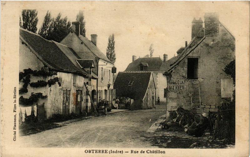 Carte postale ancienne Obterre - Rue de Chatillon à Obterre