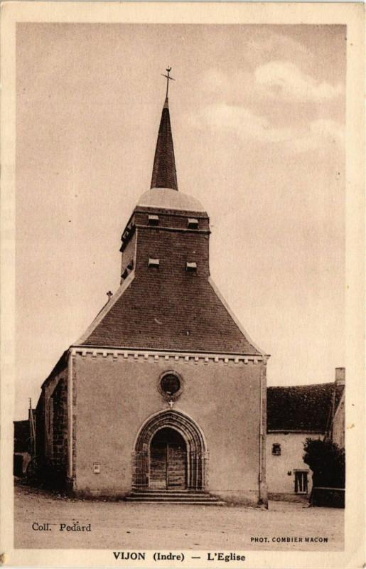 Carte postale ancienne Vijon - L'Eglise à Vijon