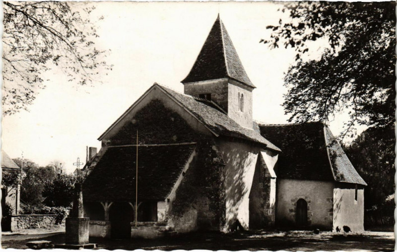 Carte postale ancienne Nohant-Vicq - l'Eglise à Nohant-Vic