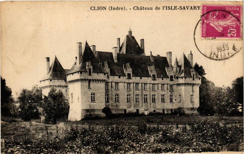 Carte postale ancienne Clion - Chateau de Isle-Savary à Clion