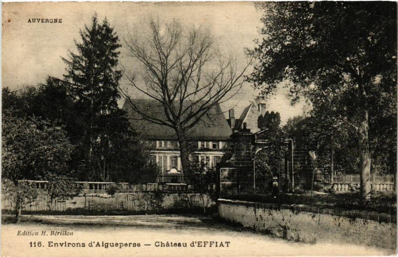 Carte postale ancienne Auvergne Chateau d'Effiat à Effiat