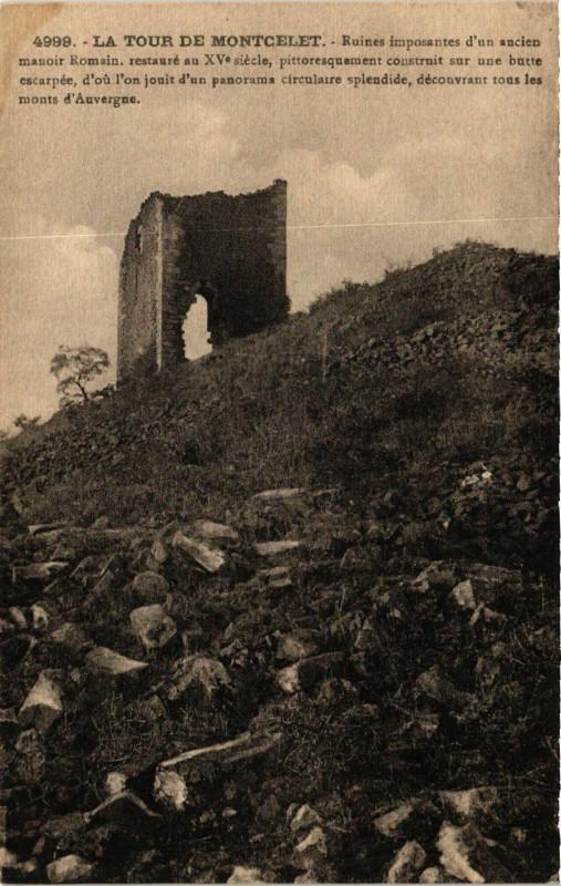 Carte postale ancienne La Tour de Montcelet à Montcel