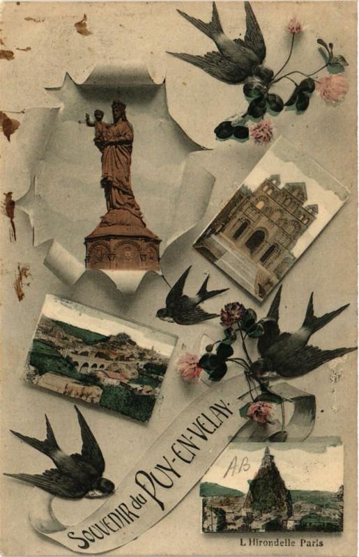 Carte postale ancienne Le Puy-en-Velay - Scenes - Souvenir du Puy-en-Velay au Puy-en-Velay