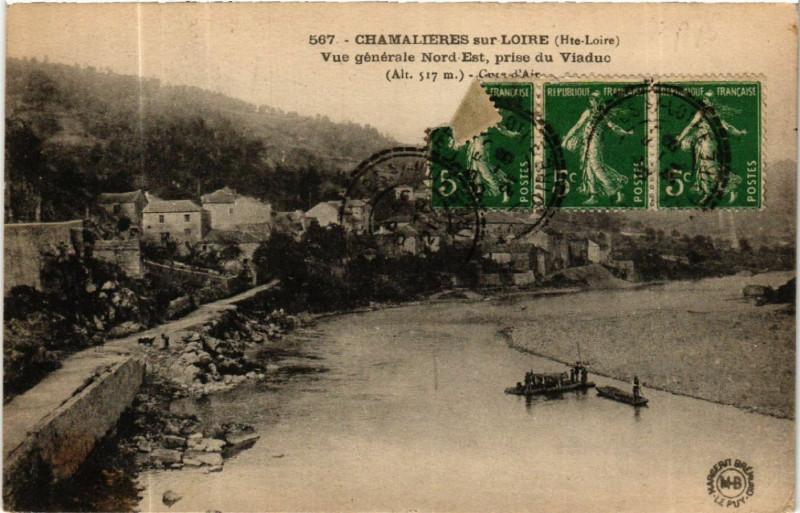 Carte postale ancienne Chamalieres-sur-Loire (Ht-Loire) alt 517 m - Vue générale Nord-Est à Chamalières-sur-Loire