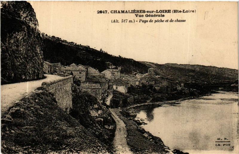 Carte postale ancienne Chamalieres-sur-Loire (Hte-Loire) - Vue générale (Alt 517 m) à Chamalières-sur-Loire