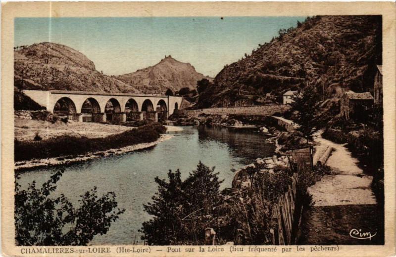 Carte postale ancienne Chamalieres-sur-Loire -Pont sur la Loire (lieu frequente à Chamalières-sur-Loire