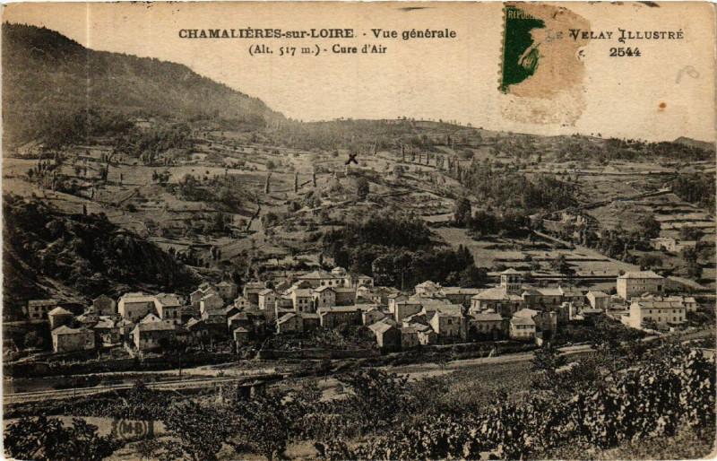 Carte postale ancienne Chamalieres-sur-Loire - Vue générale - (Alt 517 m) - Cure d'air à Chamalières-sur-Loire