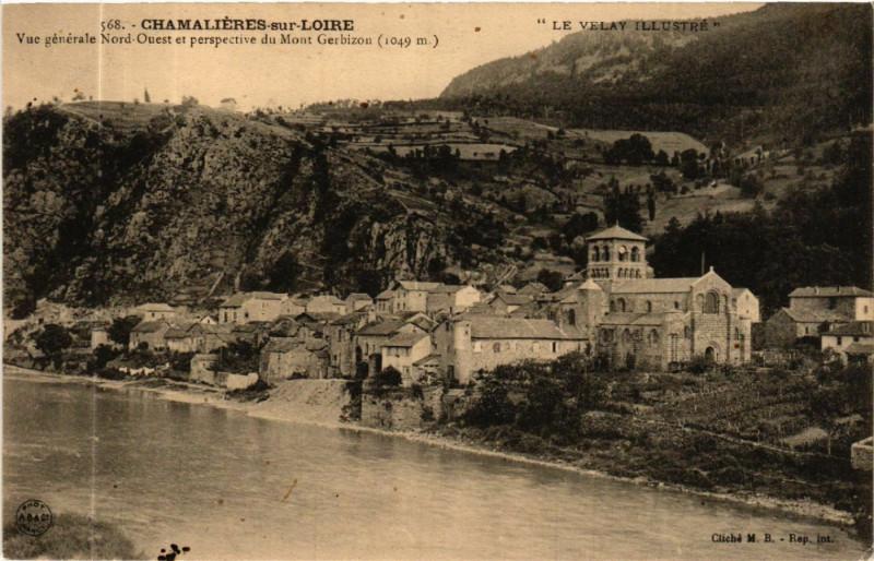Carte postale ancienne Chamalieres-sur-Loire - Vue générale Nord-Ouest et perspective à Chamalières-sur-Loire