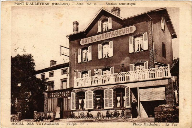 Carte postale ancienne Pont-d'Alleyras (Hte-Loire) - Alt.668 m - Station touristique à Alleyras