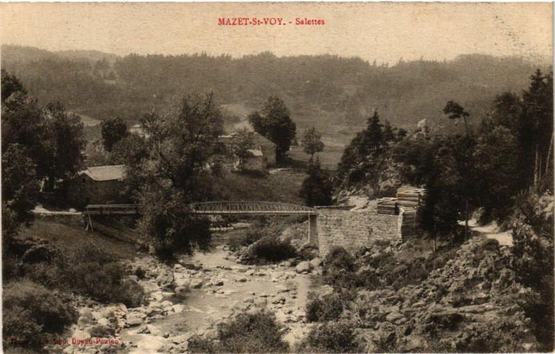 Carte postale ancienne Mazet-St-Voy - Salettes à Salettes