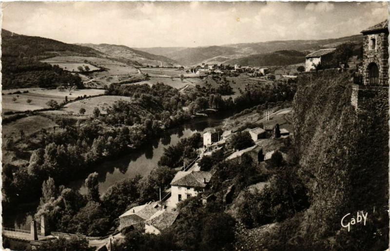 Carte postale ancienne Chilhac - La Vallée de l'Allier à Chilhac