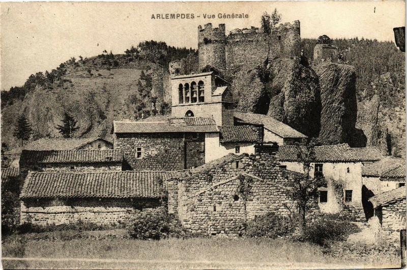 Carte postale ancienne ArLEMPDES - Vue générale à Arlempdes
