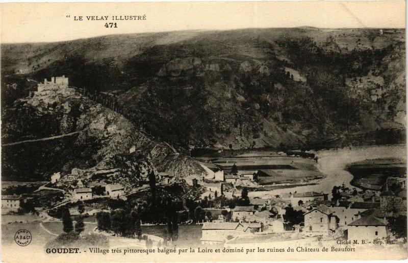Carte postale ancienne Le Velay Illustre Goudet Village tres pittoresque baigne par... à Goudet