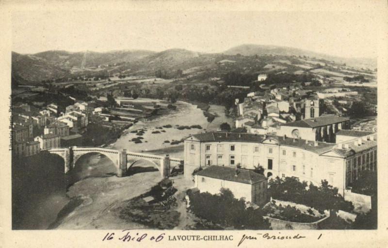 Carte postale ancienne Lavoute-Chilhac à Lavoûte-Chilhac