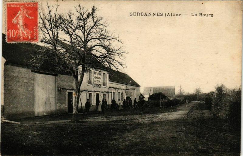 Carte postale ancienne Serbannes Le Bourg à Serbannes