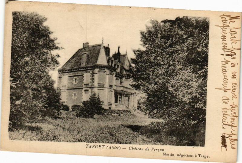 Carte postale ancienne Target-Chateau de Verzun à Target