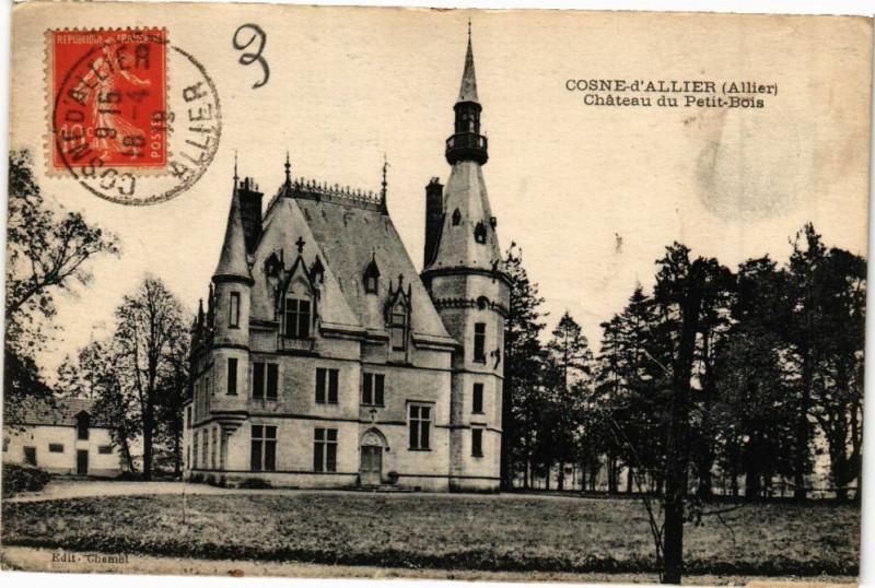 Carte postale ancienne Cosne-d'Allier Chateau du Petit-Bois à Cosne-d'Allier