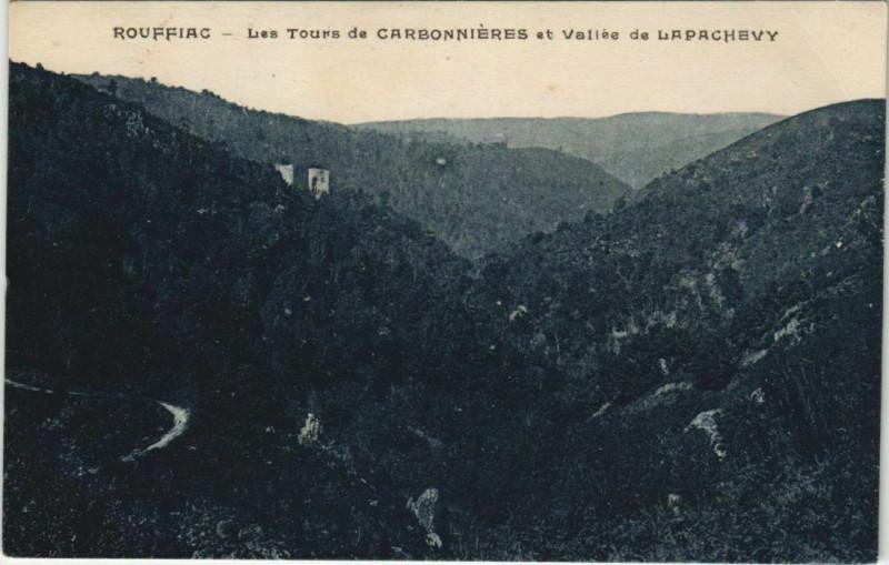 Carte postale ancienne Rouffiac Les Tours de Carbonnieres France à Rouffiac
