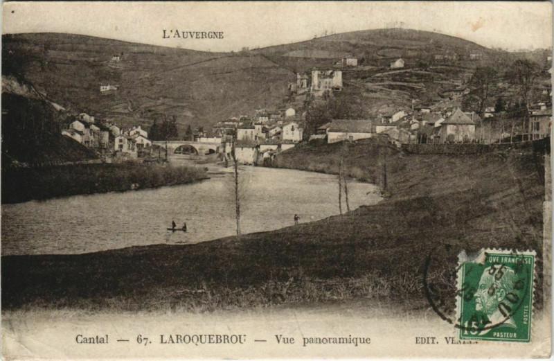 Carte postale ancienne Laroquebrou Vue Panoramique France à Laroquebrou