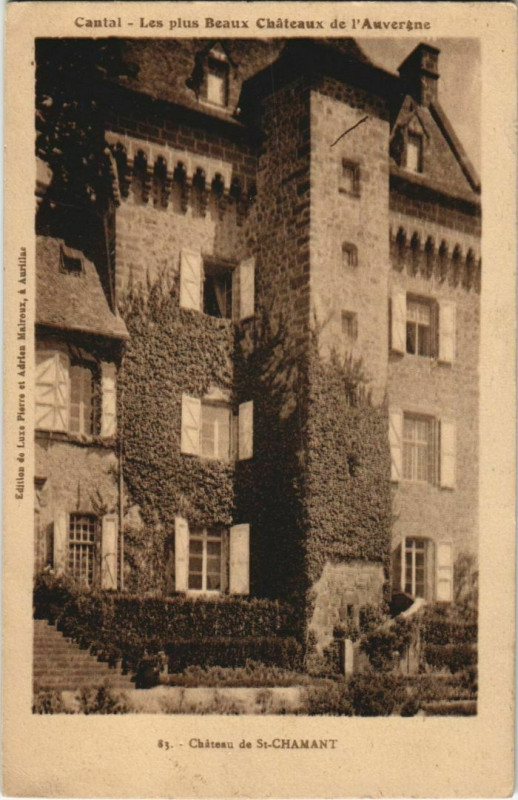 Carte postale ancienne Chateau de Saint-Chamant France à Saint-Chamant