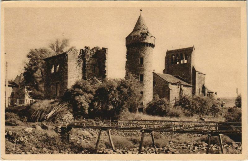 Carte postale ancienne Roffiac Eglise France à Roffiac