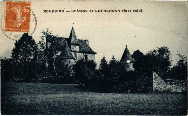 Carte postale ancienne Rouffiac Chateau de Lapachevy Cantal à Rouffiac