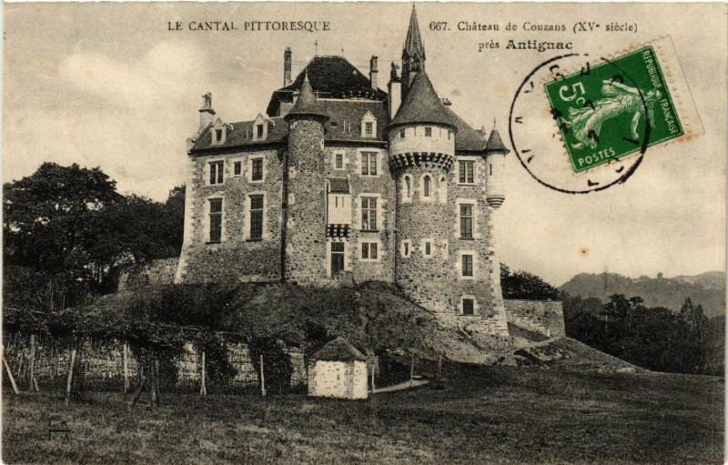Carte postale ancienne Antignac - Chateau de Couzans - pres Antignac à Antignac