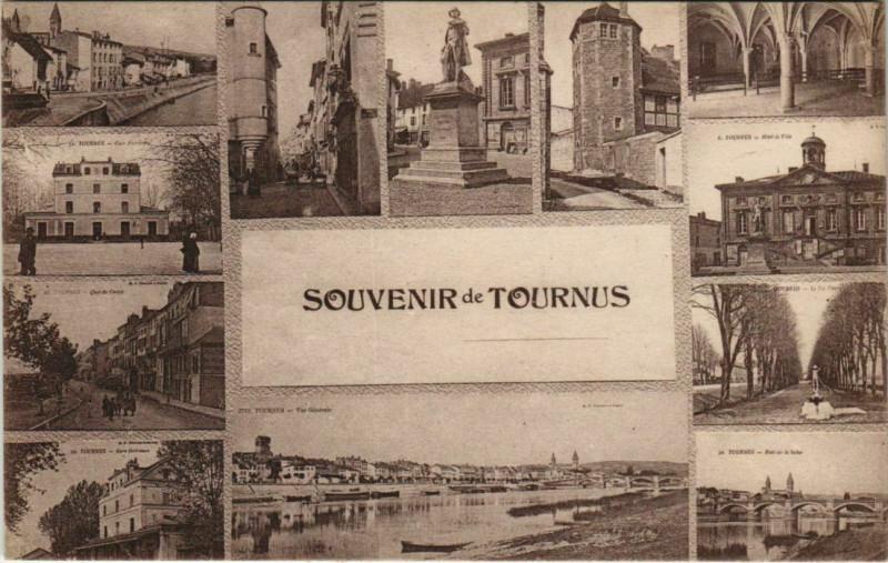 Carte postale ancienne Souvenir de Tournus à Tournus