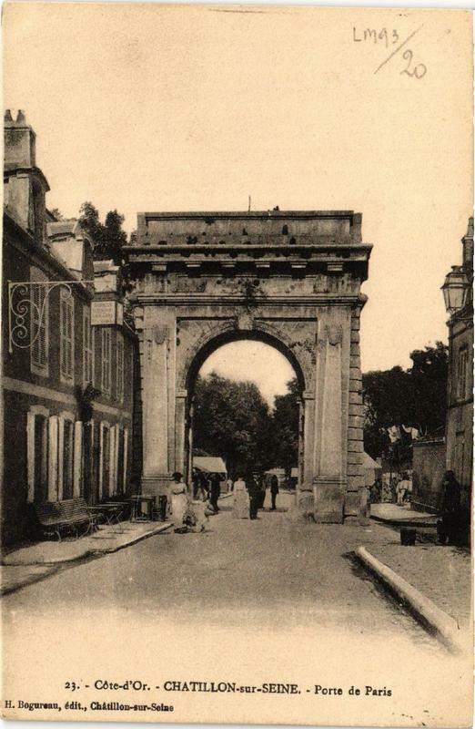 Carte postale ancienne Chatillon-sur-Seine Porte de Paris à Châtillon-sur-Seine