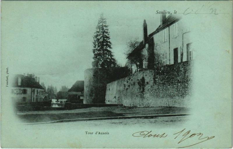 Carte postale ancienne Saulieu - Tour d'Auxois à Saulieu