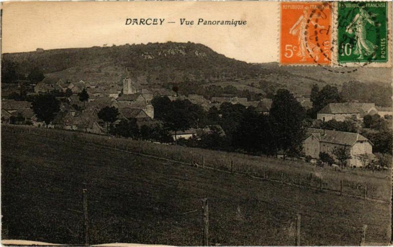 Carte postale ancienne Darcey - Vue Panoramique à Darcey