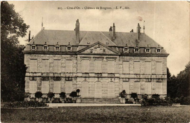 Carte postale ancienne Cote-d'Or - Chateau de Brognon à Brognon