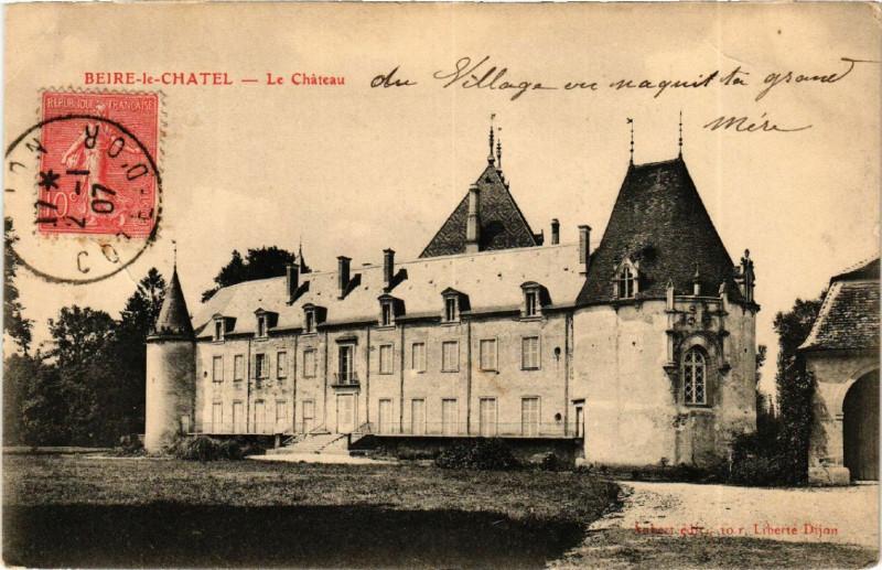 Carte postale ancienne Beire-le-Chatel - Le Chateau à Beire-le-Châtel