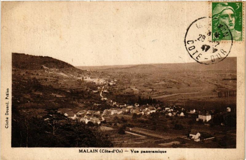 Carte postale ancienne Malain (Cote-d'Or) - Vue panoramique à Mâlain