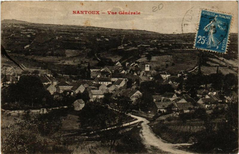 Carte postale ancienne Nantoux - Vue Générale à Nantoux