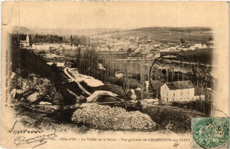 Carte postale ancienne Cote-d'Or - La Vallée de la Seine - Vue générale de Chamesson-sur- à Chamesson