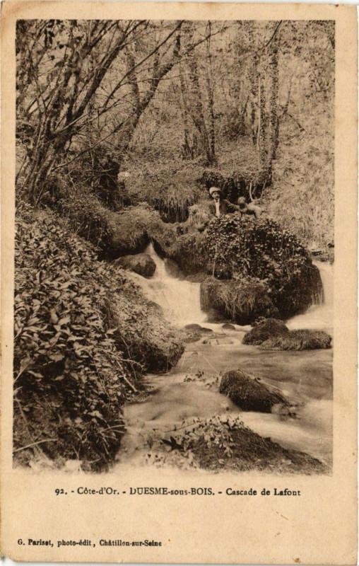 Carte postale ancienne Cote-d'Or - Duesme-sous-Bois - Cascade de Lafont à Duesme